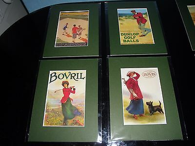Vintage Golf Prints (set 1 )