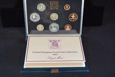 1983 Royal Mint United Kingdom (8) Coin Proof Collection Set Great Britain