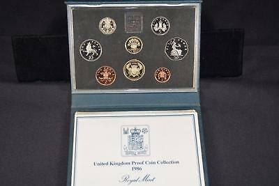 1986 Royal Mint United Kingdom (8) Coin Proof Collection Set Great Britain