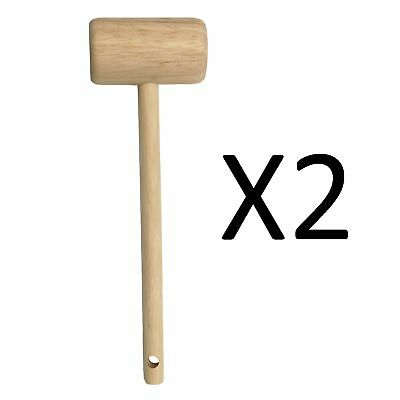 "Fox Run 7.75"" Lightweight Wooden Seafood Shellfish Crab Mallet 5959 (2-Pack)"