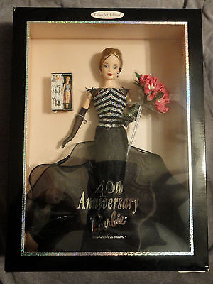 Mattel 40th Anniversary Barbie The Most Collectible Doll in the World NRFB