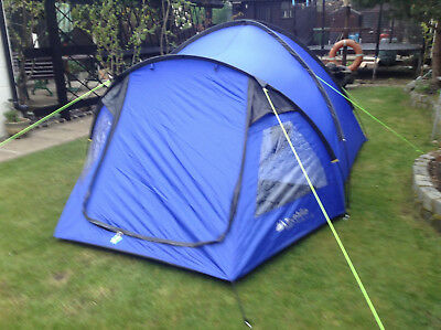 Cairns 4DLX tent, four person, man, berth, dome tent, blue, double skin, family