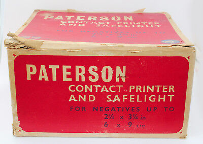 Vintage Paterson contact printer and safelight for negatives in original box