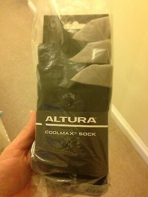 Altura Men's Cycling Socks Pack Of 3 Size Medium