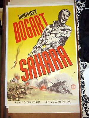 An Original Sahara movie poster 1944 pre-1970