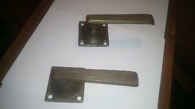 Pair of salvaged 1930 39 s brass door handles and locks cad for 1930s style door handles