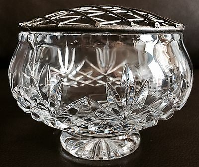 "Superb Vintage 5""/13m Heavy English Crystal Rose Bowl In Lovely Condition"