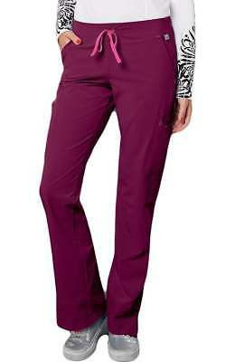 Smitten Drawstring Scrub Pants #S201002 Rock Goddess~ WINE **NEW** ~Free Ship~