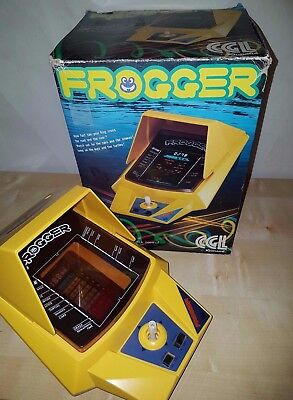 Vintage Electronic 1982 Frogger VFD Tabletop Video Game by CGL / Konami - Boxed
