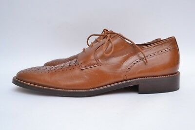 Stunning Genuine Vintage Quality Tan Leather Mens Shoes Made in Spain S40 UK7