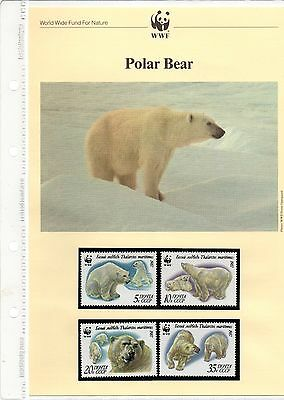 WWF collection - Russia Polar Bears FDCs + medal FDC & mint postage stamps