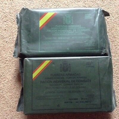 Spanish Army MRE Ration Packs (Meal Ready To Eat, Collectable, Rare)