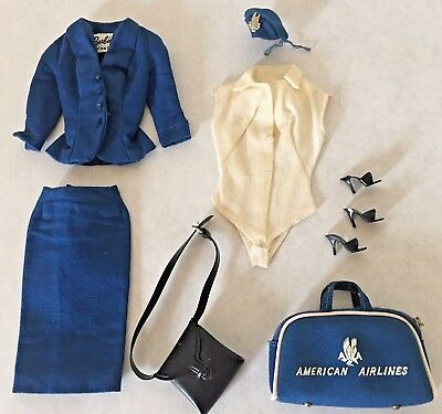 Barbie American Airlines 1960s Vintage 984 Complete Doll Clothes Set Toy