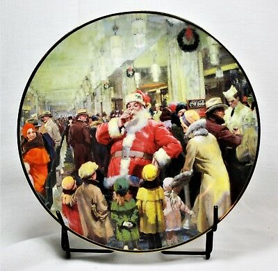 Coca Cola Christmas Plate A Busy Mans Pause 1995 Mint