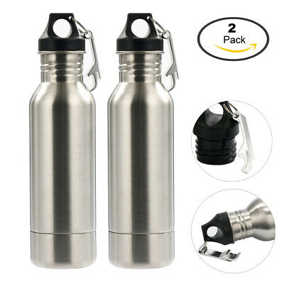 Pair Stainless Bottle Insulator Coolers - Keep Beer or Beverage Ice Cold Longe