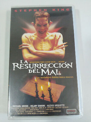 Stephen King La Resurreccion Del Mal Terror Vhs Tape Cinta Castellano New Nueva