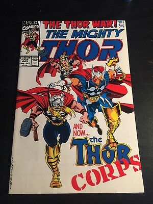 "Mighty Thor#440 Incredible Condition 9.4(1992) "" Thor Corps"" Frenz Art!!"