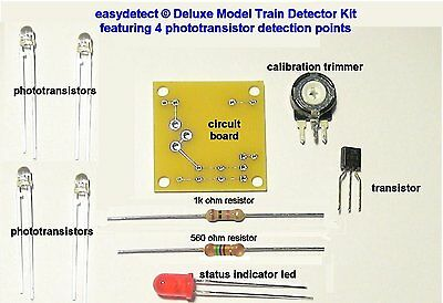 Deluxe S Scale 4 Point Model Train Detector Kit For Crossing Flasher Activation