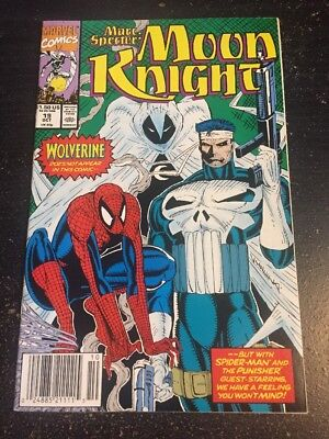 Marc Spector:Moon Knight#19 Incredible Condition 9.4(1990) Spider-man App!!