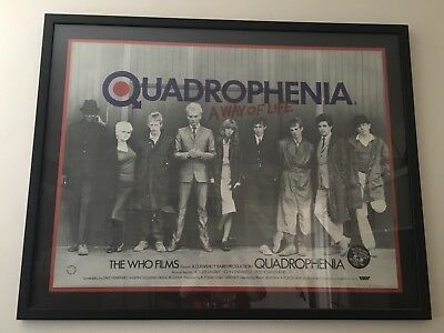 "The Who ""Quadrophenia"" Official British Movie Poster RARE 47"" x 37"""