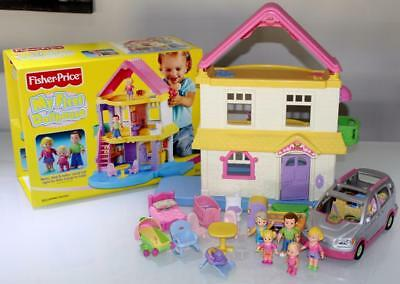 Fisher Price Family My first Doll House + Extras & Car