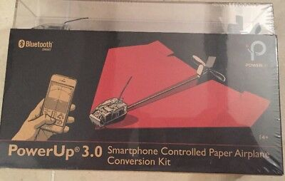 PowerUp 3.0 Smartphone Controlled Paper Airplane Conversion Kit **BRAND NEW**