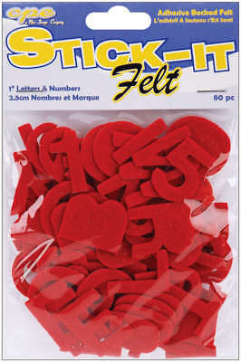 "Feltables Felt Letters & Numbers 1"" 80/Pkg Red 1NL-01574"