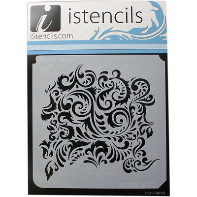 "Istencils 11""X11"" Feathered Damask IS11X11-86798"