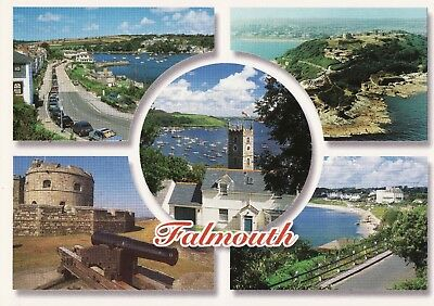 3 Modern Colour Postcards of Falmouth, Cornwall - all published by John Hinde