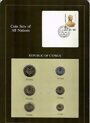 1983 Republic Of Cyprus Coin Sets Of All Nations (6) Coins