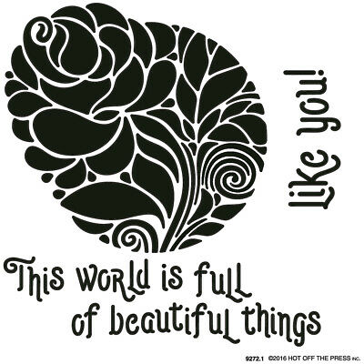 "Hot Off The Press Stencils 6""X6"" Circular Rose HOP-ST-9272"