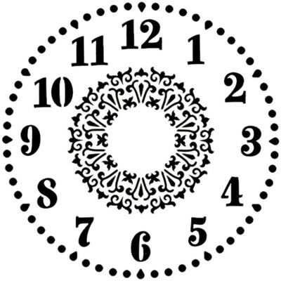 "Hot Off The Press Stencils 6""X6"" Clock HOP-ST-9274"