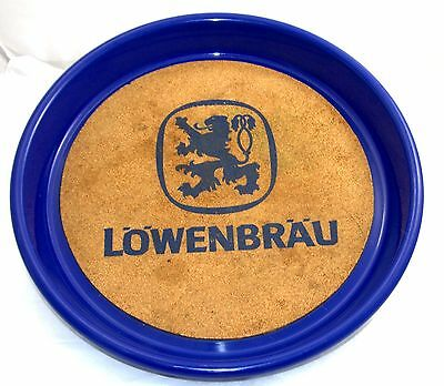 Lowenbrau Beer Germany Blue Tray Size: 13 '' Diameter Collectible