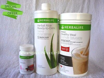 HERBALIFE START KIT FORMULA 1 750g, ALOE 946ml, TEA 1.8 Oz