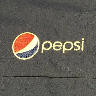 Large PEPSI Embroidered Button 'Delivery Guy' Shirt Garage Mechanic