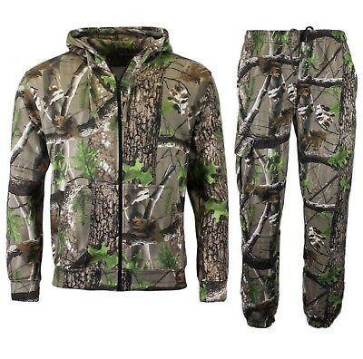 Men//kids Forest Camouflage Tracksuit Hoodie /& Jogger Full Set Fishing 2Yr-6XL