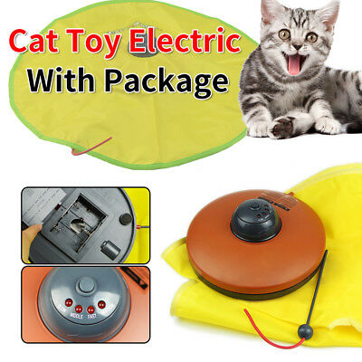 Electronic Interactive Cats Cat's Meow Toys Undercover Fabric Moving Mouse Train