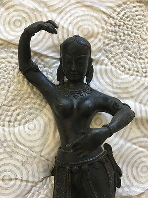 Antique Large Bronze Divine Goddess Parvarti Statue 15""