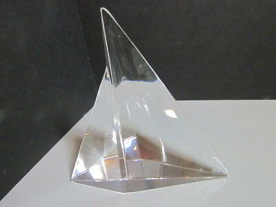 Steuben Crystal Sailboat Figurine Signed  Mint Retired Collectible
