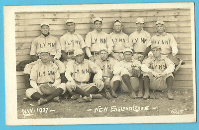 "Baseball Team RPPC: Lynn ""Shoemakers"" (6 MLB'ers), New England League - 1907"