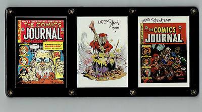 William Stout Signed Fantasy Trading Cards In A 3 Card Screwdown For Display