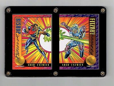 X-Men Series 2 Bishop And Fitzroy Brandon Peterson Signed Cards