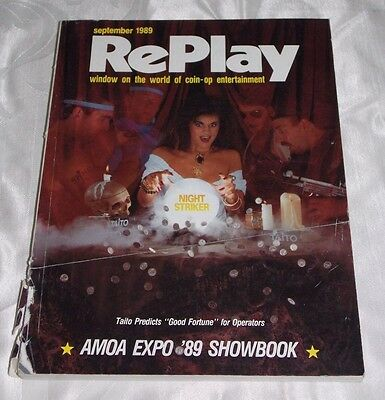 September 1989 Replay Magazine,monthly Magazine For The Amusement Game Industry