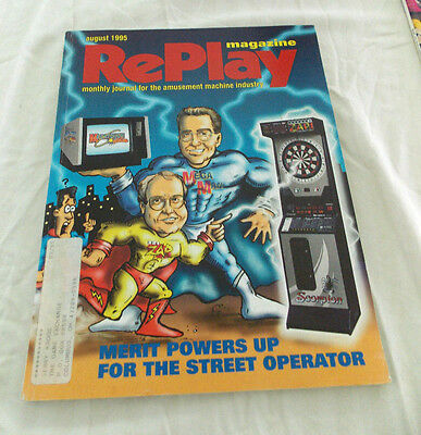 August 1995 Replay Magazine, Monthly Magazine For The Amusement Machine Industry