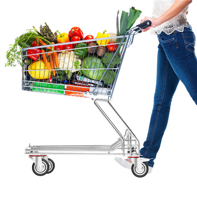 "4 Heavy Duty Caster Set 3"" Swivel Wheels 2 w/ Brake Non Skid No Mark Castors"