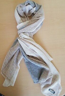 New 100% Cashmere Fair Trade Pashmina Scarf Shawl Wrap Made In Nepal 200X70 Cm 4