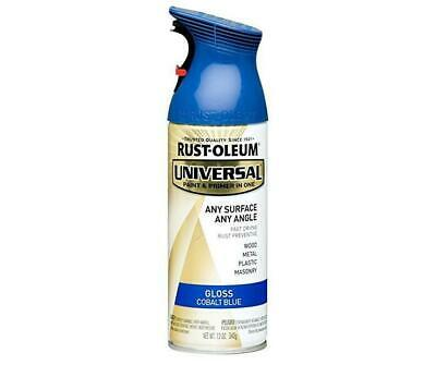 Rustoleum All Surface Spray Paint Can Cobalt Blue Gloss 340g Any Angle Fast Dry