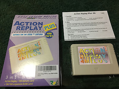 Action Replay Plus Sega Saturn with Pseudo Saturn Kai Installed 4Meg RAM backup