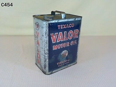 Vintage Texaco The Texas Company 2 Two Gallon Metal Valor Motor Oil Can Rare Old