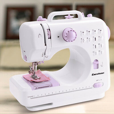Mini Electric Portable Desktop Sewing Machine Hand Held Household Two-speed